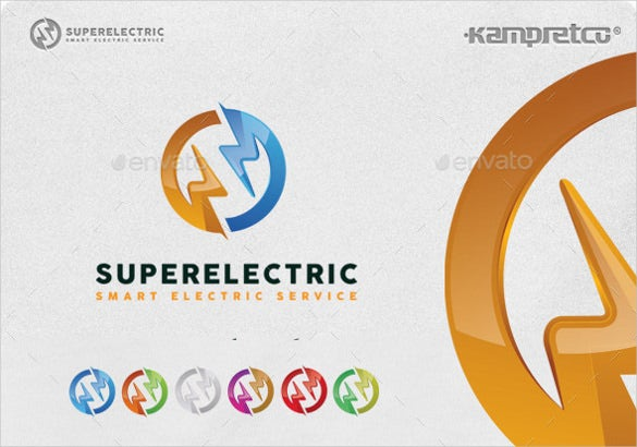trade electrical logo template