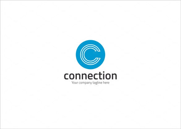 letter c electrical logo template