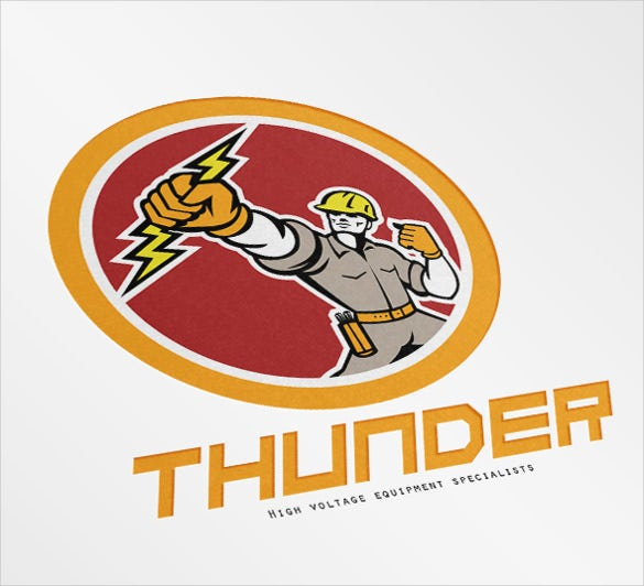 thunder electrical logo template
