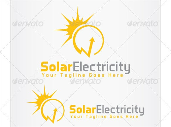 solar electrical logo template