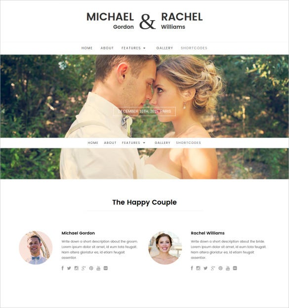 responsive wordpress wedding photo gallery theme