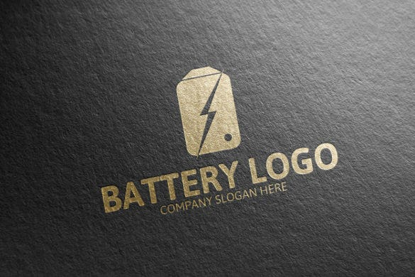 battery electrical logo template