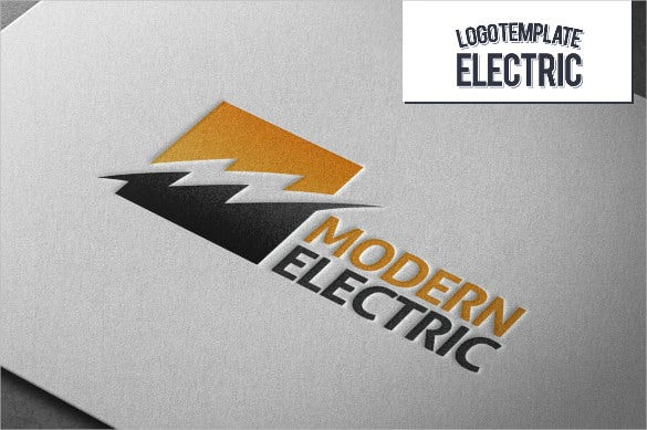 modern electrical logo template