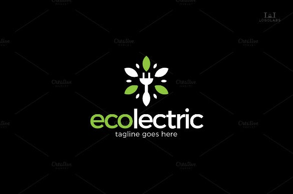 cable electrical logo template