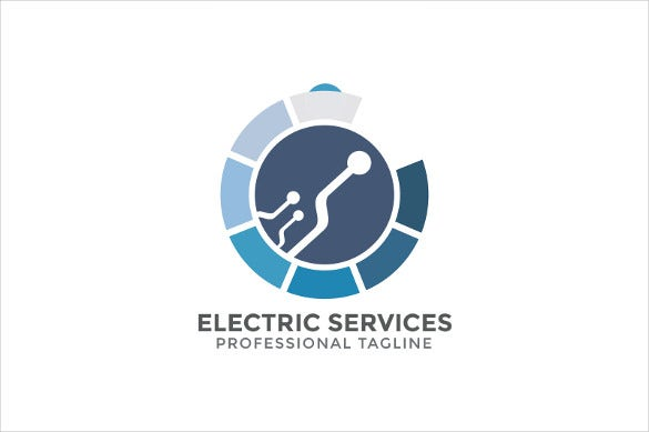 dots electrical logo template