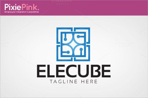electric cube logo template