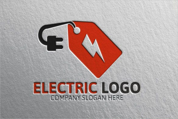 plug electrical logo template