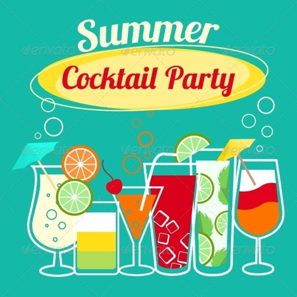 summer holiday cocktail party template