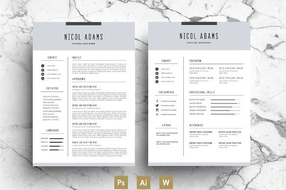 Business Profession Creative Resume Template