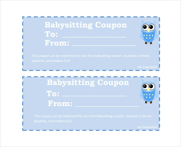 free baby sitting coupon pdf foramt download