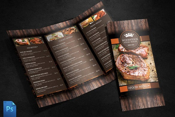 menu design template download