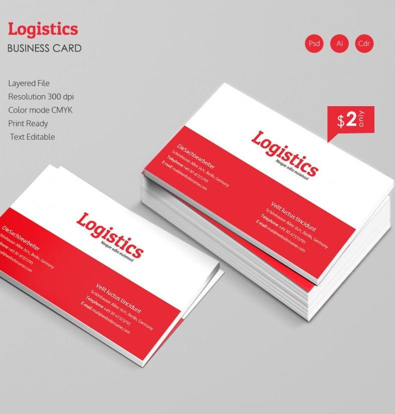Elegant Logistics Business Card Template Free Premium Templates - Editable business card templates free