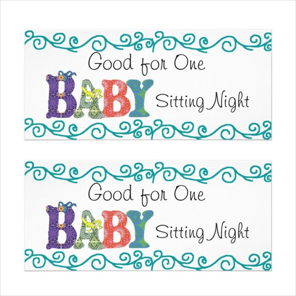 10+ Baby Sitting Coupon Templates – Free Sample, Example, Format