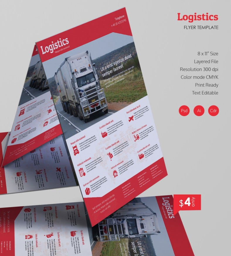 excellent logistics flyer templates
