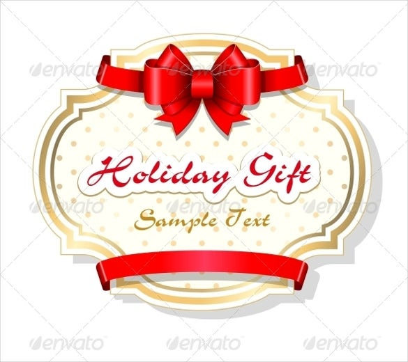 beautiful holiday gift template