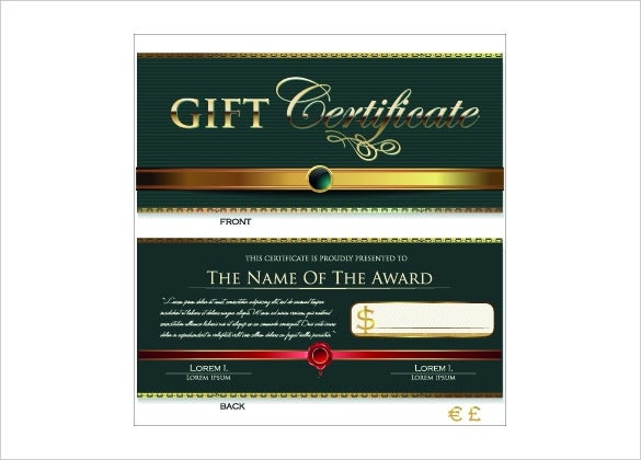 20 Holiday Gift Certificate Templates Free Sample Example Format