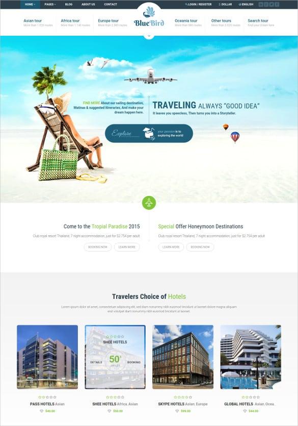 tour travel wordpress theme