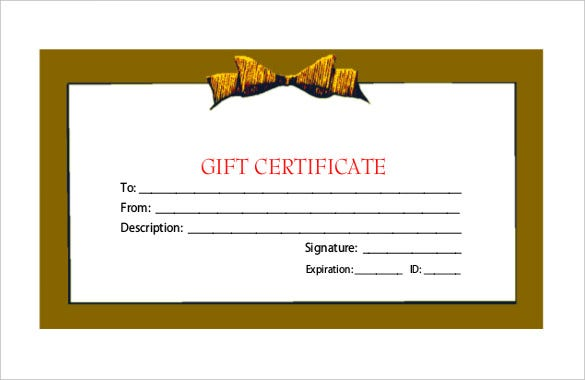 Holiday Gift Certificate Templates  Free Sample Example Format