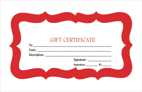 best holiday gift certificate template free pdf1