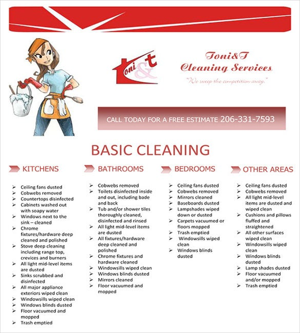 Cleaning Service Flyers Free Template Galleryhipcom