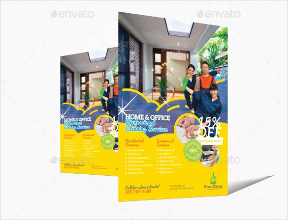 Home Cleaning Flyer Template