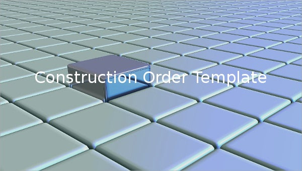 construction order template