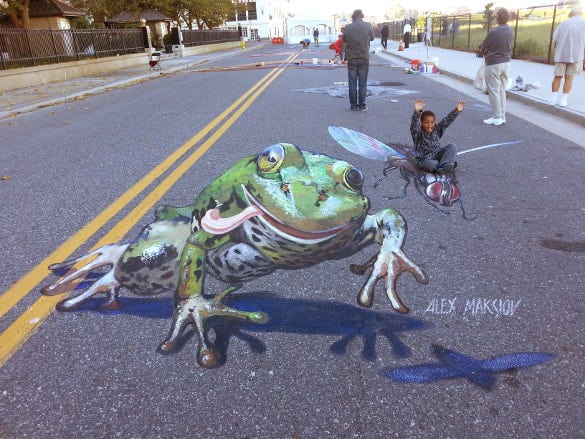 frog 3d art