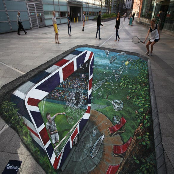 tennis 3d art