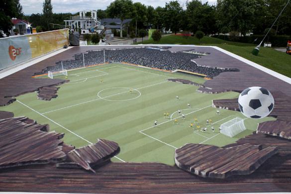 football 3d art