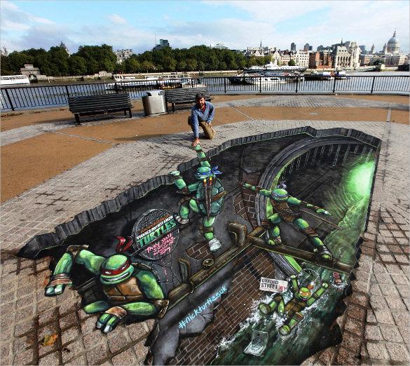 turtle 3d art