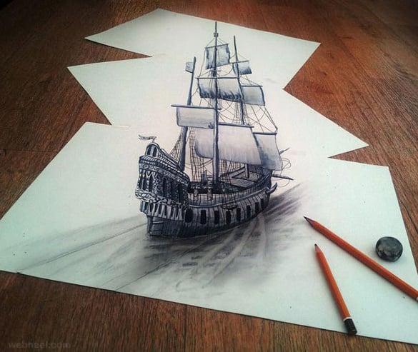 titanic 3d art