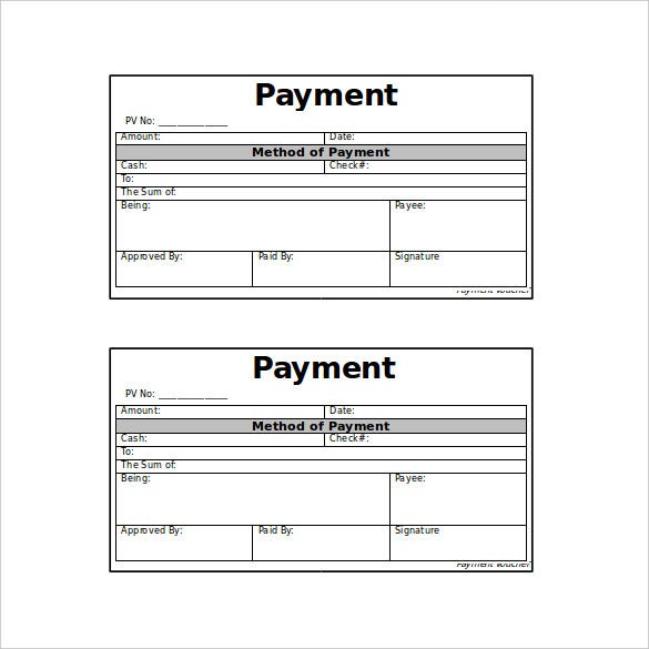 10 Payment Coupon Templates Free Sample Example Format – Sample Voucher Template