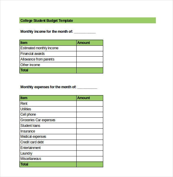 Excel budget template 25 free excel documents download free student budget template free download fbccfo Gallery