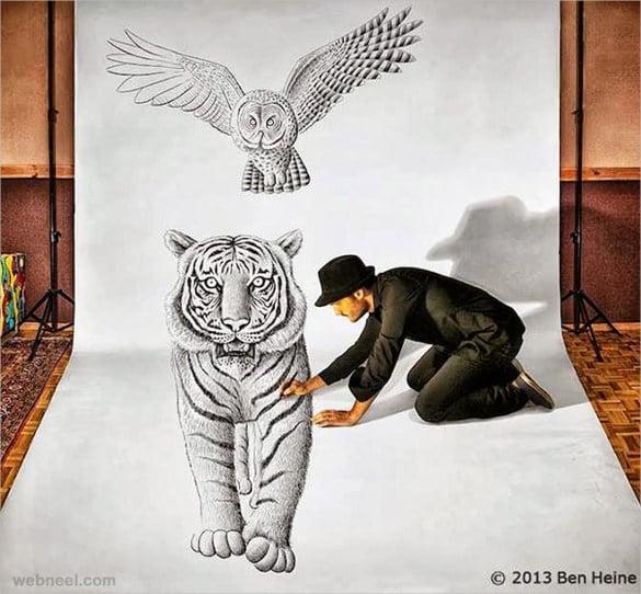 tiger 3d art