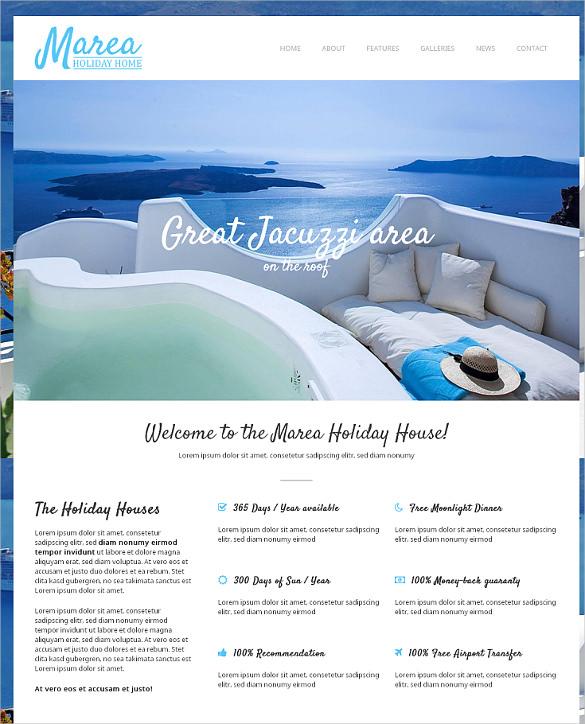 holiday travel wordpress theme