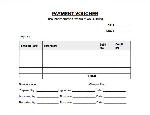 ready to print payment voucher template download