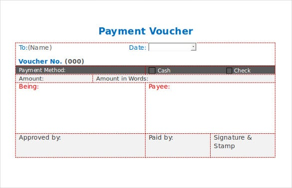 10 Payment Coupon Templates Free Sample Example Format – Sample Payment Voucher Template