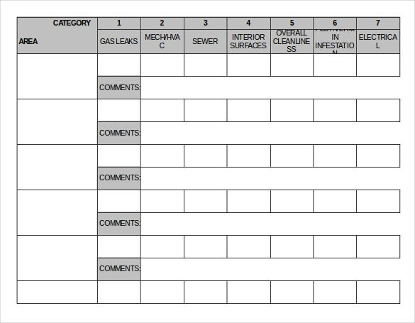 good repair order excel template free download