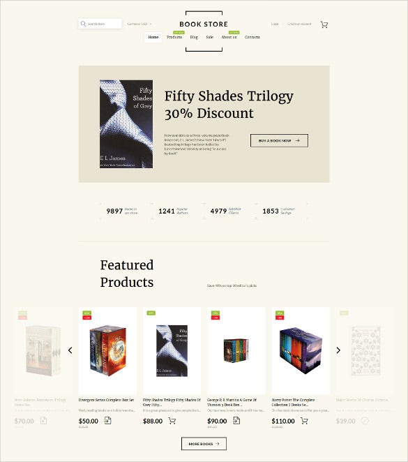 book shop shopify website theme