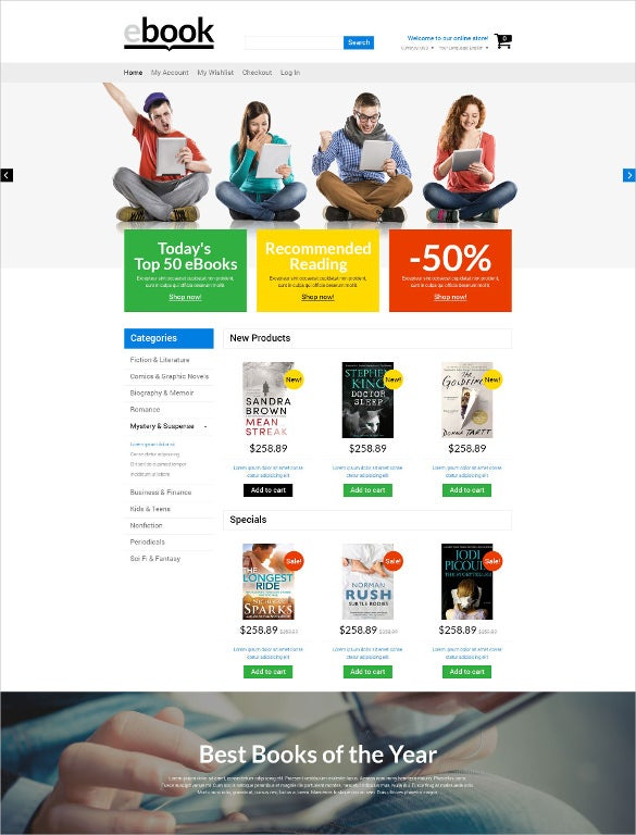 30 Book Store Website Themes Amp Templates Free Amp Premium