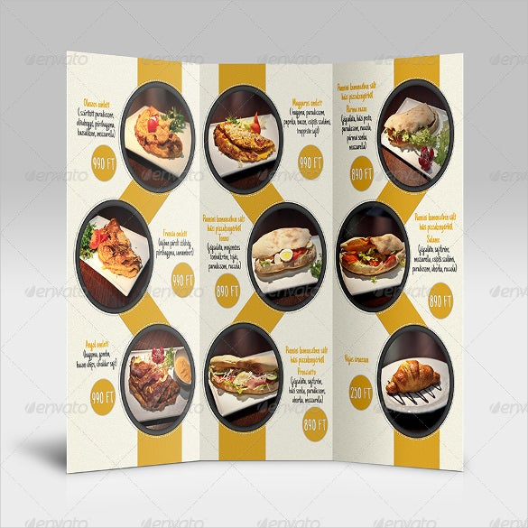 sample dinner menu template