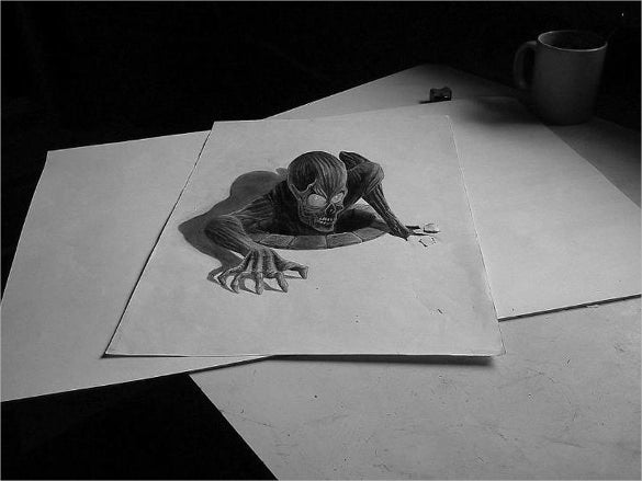 monster 3d drawing