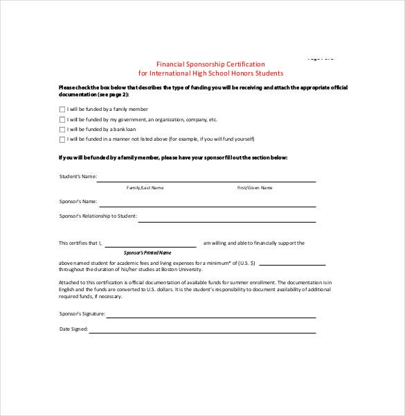Sample Bin Sponsorship Agreement Template