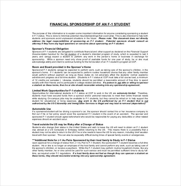 Sponsorship Agreement Template Uploading Sponsorship Agreements