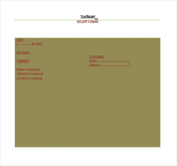blank taxi receipt details file format