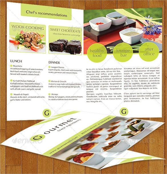 gourmet food catering menu ai illustrator format template download
