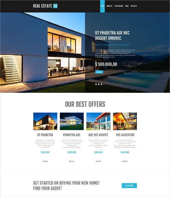 real estate services wordpress theme