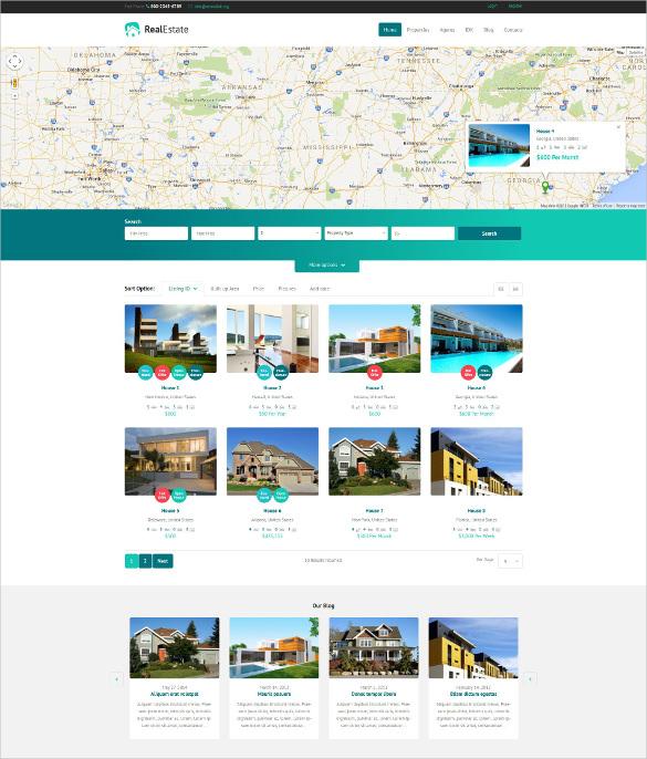 responsive real estate agency wordpress theme
