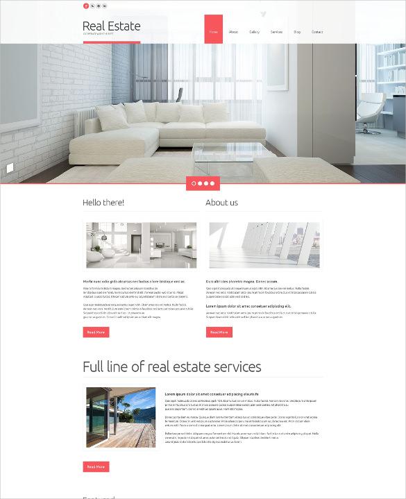 luxury real estate flot wordpress theme