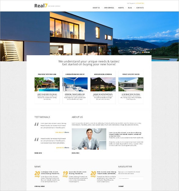 premium real estate agency wordpress theme